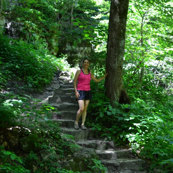 michelle jolly on nature path